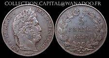 5 Francs 1847A Louis Philippe I Côte TTB 75€ Argent