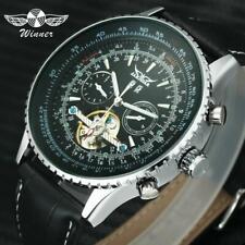 Top Fashion JARAGAR Men's Military Sports Mechanical Wristwatches Leather Strap