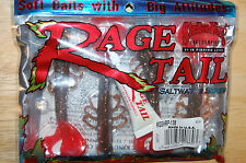 strike king saltwater series rage tail shrimp rootbeer red tail with tube scent