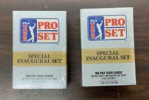 1990 Pro Set PGA TOUR GOLF 100 Card Inaugural Factory Sealed Sets Lot Of 2 Sets