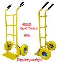 Sack Truck Hand Trolley 200kg Heavy Duty Industrial Barrow Cart Solid Dolly Axle