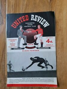 1957/8 Manchester United v Ipswich Town FAC)  LAST HOME BEFORE AIR CRASH
