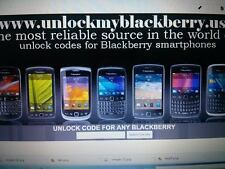 Unlock Code for Blackberry 9360 9380 9790 9810 9850 9860 9900 9930
