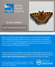 RSPB Pin Badge | Small Tortoiseshell Butterfly | New on GNaH card [01311]