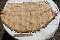 "Antique French 19thC Floral Silk & Cotton Valance~L-26"" X W-33"""