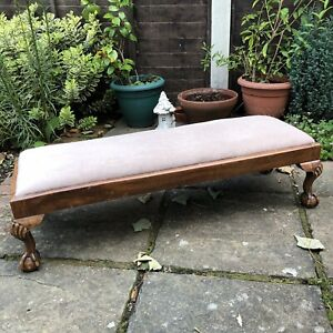 Antique Wooden Large Footstool