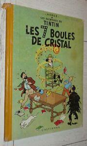 TINTIN LES 7 BOULES DE CRISTAL HERGE CASTERMAN 1er TRIMESTRE 1956 DOS B-17