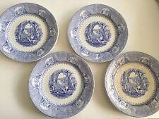"Lot of 4 Jacob Furnivals J.F. China Castle Scenery Blue - 10"" DINNER PLATES"