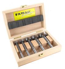 FAMAG 1630.505 Classic SUPER-Forstnerbohrer-Satz im Holzkasten, 5-teilig