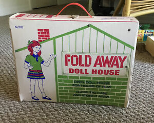 Vintage Fold Away Doll House 1610 Miner Industries