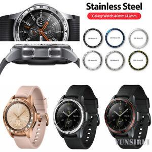 Metall Lünette Ring Adhesive Cover Hülle Für Samsung Galaxy Watch 46MM & 42MM