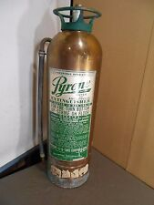 Vintage Fire Extinguisher  PYRENE  Water / Cartridge--Brass   PATINA ! - Empty