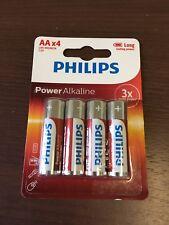 PHILIPS POWER ALKALINE AA LR6 Batterie-Pack de 4