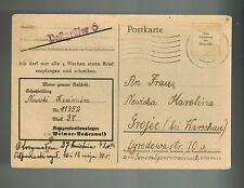 1943 Germany Buchenwald Concentration Camp Postcard Cover to Grojec K Nowicki
