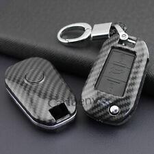 Carbon Fiber ABS Car Key Keychain Cover For Peugeot 308 508 3008 Citroen C3 C5