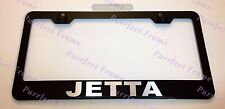 Volkswagen JETTA LASER Style Black Stainless Steel License Plate Frame W/Caps