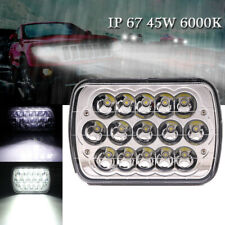 5''x7'' LED Headlight Crystal Clear Sealed Light For Jeep Cherokee Nissan