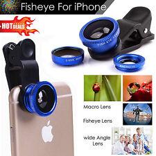 180 ° Clip on Fish Eye Objectif Grand Angle Macro Lentille De La Caméra Kit Pour Téléphone Comprimés UK