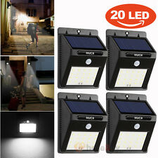 4pc 20 LED Solar Power Sensor Wall Light Security Motion Waterproof Outdoor Lamp