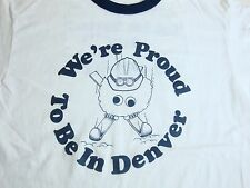 Vintage We're Proud to Be in Denver Colorado Seisdata Inc. Contracter T Shirt M