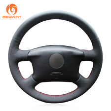 Black PU Leather Steering Wheel Cover for VW Passat B5 VW Golf 4 Seat Alhambra