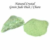 Green Jade Crystal Dust Powder Natural Raw Rough Reiki Healing Stones