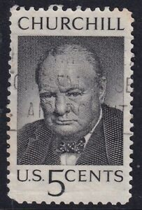US 13 MAY 1965 WINSTON CHURCHILL COMMEMORATIVE STAMP USED h