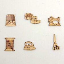 50Pcs Mixed Natural Sewing tool wooden Buttons Scrapbooking Craft decoration