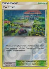 2x Pokemon SM Burning Shadows Po Town #121 Uncommon REVERSE Holofoil - Near Mint