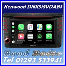 "Kenwood DNX518VDABS 7"" Navigation CD DVD Bluetooth Carplay AndroidAuto VW T6"