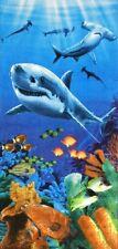 "30""x60"" Sharks  Colorful Reef Beach Towel"