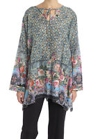 Johnny Was Floral Print Women's  Tunic Top New Boho Chic