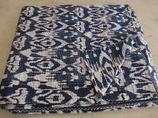 Indian cotton kantha quilt handmade antique vintage bedspread twin paisley throw