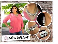 New Paparazzi 4pc Set Necklace & Matching Earrings, Bracelet, Earrings, & Ring,