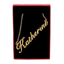 Katherine Collar de nombre-Tono Oro-Zirconia Cúbico-día de las Madres Cumpleaños Navidad