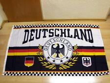 Fahnen Flagge Deutschland Sport Fußball Lorbeerkranz 4 Sterne - 90 x 150 cm