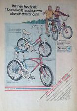 ORIGINAL CHRISTMAS Vintage 1960's SEARS FREE SPIRIT BIKE BANANA SEAT AD