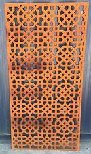 Decorative Garden Metal Fence Screen 'Hexocto' Laser, 1800x900, Corten Steel