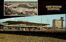AMSTERDAM Airport Flughafen Schiphol, Luchthaven Holland Niederlande, color AK