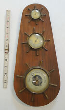 vtg Stellar nautical weather station Humidity Temperature Thermometer barometer