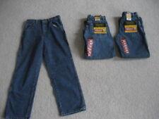 3 PAIRS - Boys Wrangler Legendary Gold Blue Denim Jeans - Size 14 Relaxed Fit