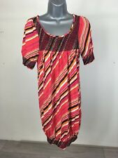 Women's Zara Collection Red/Multi Half Sleeve Stretchy Wiggle Dress Size Medium
