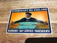 STOOMVAART-MIJ-ZEELAND-Vintage LUGGAGE LABELS-Trunk Sticker-London-Holland 1940s