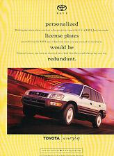 1997 Toyota Rav4  Original Advertisement Car Print Ad J351