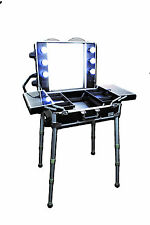 ARTIZTA PROFESSIONAL HOLLYWOOD MAKEUP ARTIST STATION TRAIN CASE WITH LIGHTS