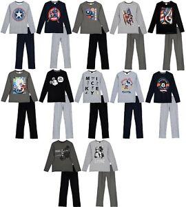 Mens Long Pyjamas PJ Official Character Star Wars Captain America Mickey Mouse
