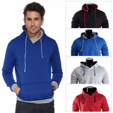 Unbranded Hooded Plain Hoodies & Sweats for Men