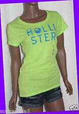 Hollister Co. Womens GREEN Bolsa Chica T-Shirt Graphic Design Tee MEDIUM M