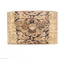 18 kt Gold Vermeil Sterling Native American Inspired Cuff Bracelet Alberto Juan