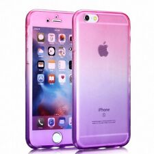 Apple iPhone 6/6S Plus Full Body 360 Silicone Cover Case Pink/Purple